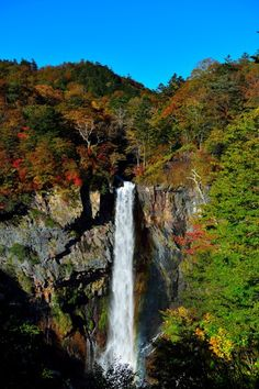 Kegon Waterfall at Lake Chuzenji in Nikko National Park, Tochigi, Japan