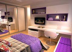 16 Furniture Ideas for A Super Cozy Bedroom www. - Great Home Decorations Cozy Bedroom, Dream Bedroom, Girls Bedroom, Master Bedroom, Bedroom Decor, Bedrooms, Teen Bedroom Colors, Modern Bedroom, Appartement Design