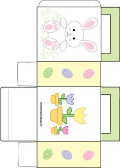 Easter candy box to print