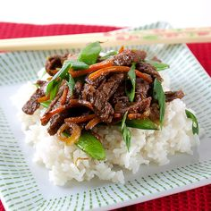 Five-spice beef stir-fry: Tender strips of five-spice beef are marinated in soy sauce and honey overnight and tossed together with fresh snow peas and carrots for a tasty medley of Asian flavors