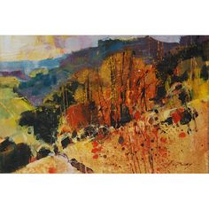 """Chris Forsey. Downs Slopes. 6""""x4"""". Chris Forsey will be exhibiting with ACEO Gallery at Brighton Art Fair in October"""
