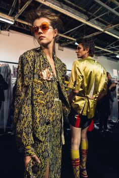 Behind-the-scenes at Vivienne Westwood during Paris Fashion Week. Photographed by Driely S.