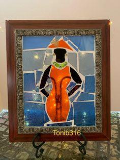 Orange Dress, Black Women, Mosaic, Painting, Dresses, Art, Black, Vestidos, Art Background