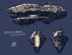 Battle Carrier by myname1z4xs.deviantart.com on @DeviantArt