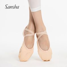 Sansha Adult Canvas Soft Shoes For All Levels Triangular Arch Ballet  Slippers With Competitive Price NO b55f1301926b