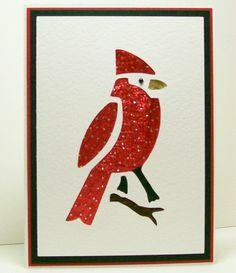 Iris Folded Card - Cardinal