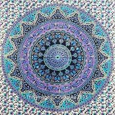 Mandala Tapestries Wall Hanging Indian Hippie Tapestry Bohemian Wall Tapestries for Dorms College Decor Bedding - Beach Blanket Picnic Sheet (60x90 Inches)