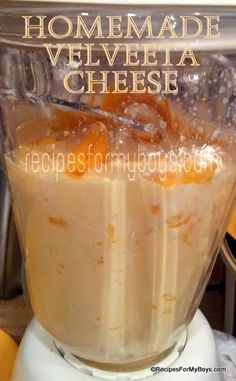 Recipes For My Boys: Homemade Velveeta Cheese Homemade Velveeta, Recipes With Velveeta Cheese, Homemade Cheese, Homemade Butter, Cheese Recipes, Ninja Blender Recipes, Ninja Recipes, Diy Food, Love Food