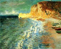 Morning at Etretat - Claude Monet