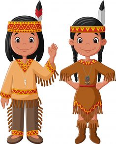 Illustration about Illustration of Cartoon couple native Indian American with traditional costume. Illustration of adorable, children, fall - 88358756 American Indian Costume, American Indian Girl, Native American Girls, Indian Boy, Indian Costumes, Native American History, Native Indian, American Symbols, American Women