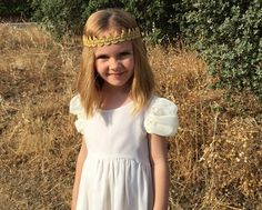Sweet Marnie Princesas con Estilo Vestido de gasa blanco