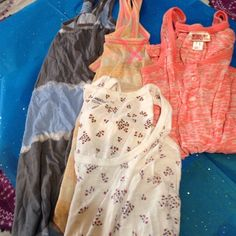Bundle of cute Tank Tops One mossimo, one gap, and one weavers, other has no tags. All between medium and small sizes. Tops Tank Tops