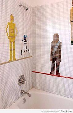 Star Wars Bathroom - http://2nerd.com/funny-pics/star-wars-bathroom/