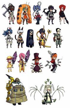Manikins - Skullgirls by KoiDrake