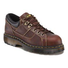 Dr. Martens Gunby Punta de ACERO Zapatos, Marrón (Teca), 12 UK/14 M US Women'S/13 M US Men'S