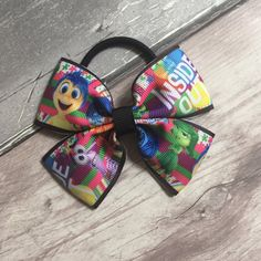 Inside out 4 handmade hair bow bobble or clip by TheBowGeek