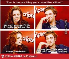 Ahahaha, Edward got Bella. Robert, you have slightly redeemed yourself.