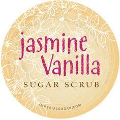 Jasmine Vanilla Sugar Scrub Label