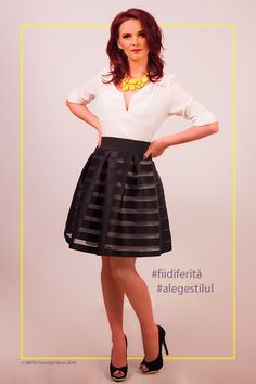 #flaredskirt #blacksatin #highwaiste @sapioconceptstore www.sapiostore.ro Flare Skirt, Black Satin, Stylish Outfits, Personal Style, High Waisted Skirt, Feminine, Glamour, Elegant, Skirts