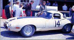 Jaguar E-Type  LWE in 1963 at Le Mans.