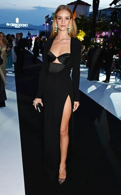Rosie Huntington-Whiteley in Cushnie et Ochs at the Fatale in Cannes party.