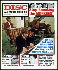 Uk Music, The Monkees, February 11, Music Magazines, Small Faces, Vintage Music, Newcastle, Knock Knock, The Beatles