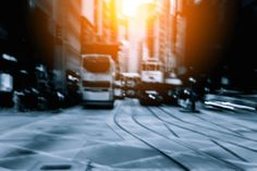 abstract background of people on the street with sunlight