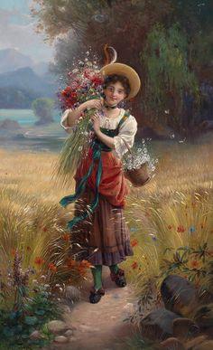 Австрийский художник Hans Zatzka (1859–1945) часто подписывался псевдонимом Joseph Bernard.