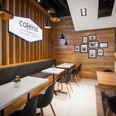 Image 8 of 15 from gallery of Cafeina Café / mode:lina architekci. Photograph by Marcin Ratajczak Coffee Shop Interior Design, Coffee Shop Design, Interior Design Inspiration, Design Ideas, Design Shop, Cafe Mode, Simple Cafe, Restaurants, Wholesale Furniture
