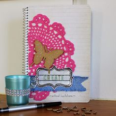 Do you have a place that you store all your crafty ideas? I do it the old fashioned way in a notebook. It has sketches of my creations, m. Journal Covers, Creative Ideas, Old Things, Scrap, Notebook, Sketches, Paper Crafts, Crafty, Magazine Covers