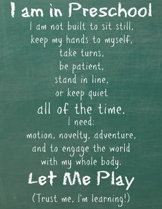 Free printable preschool quote for your at-home preschool