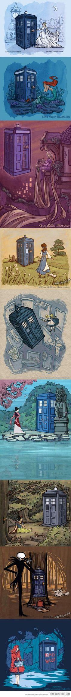 the TARDIS makes every movie better