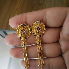 Gold Earrings Designs, Gold Top, Gold Jewelry, Jewellery, Designer Earrings, Fashion Jewelry, Beaded Necklace, Brooch, Drop Earrings