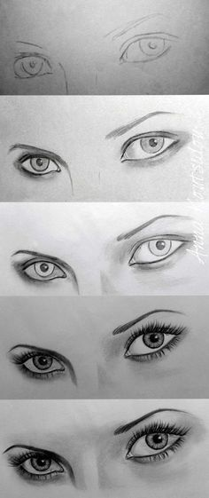 art drawings How To Draw An EYE - 40 Amazing Tutorials And Examples - Bored Art Realistic Eye Drawing, Drawing Eyes, Painting & Drawing, Drawing Women Face, Eye Pencil Drawing, Pencil Sketching, Sketching Tips, Eyebrow Pencil, Life Drawing
