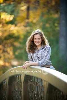 Senior Portrait / Photo / Picture Idea - Girls - Fall - Bridge / Walkway