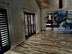 Hardwood Floors, Flooring, Window Treatments, Garage Doors, Windows, Amazing, Outdoor Decor, Home Decor, Wood Floor Tiles