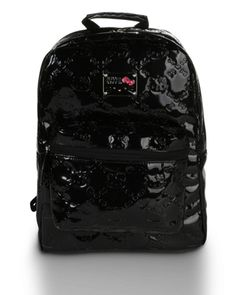 4a45bb0319 Hello Kitty NEW Black Patent Embossed Backpack  60  backpack Sanrio