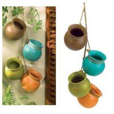 Diy hanging pots / wall garden / herb planters / cute & easy