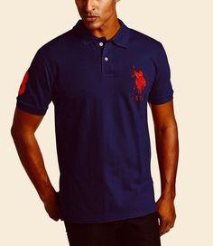 ea6ce86db U.S. Polo Assn Logo Polo Shirt Navy Large TD087 TT 06 #fashion #clothing #