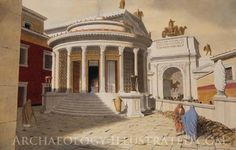 Rome, Temple of Vesta on the Roman Forum by Balage Balogh/www.Archaeologyillustrated.com