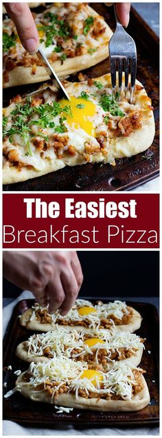 Breakfast Pizza | Breakfast Recipes for Kids | UnicornsintheKitchen.com via @UnicornsKitchen