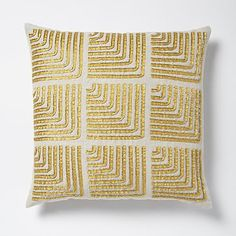 Beaded Corners Pillow Cover - Horseradish - $49 at West Elm