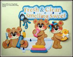 ELITE4U Premade Tear Bear Paper Piecing Scrapbook Album Page Card Roxcrafts | eBay