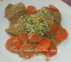 Papolette en cuisine: Porc, carottes, curry au  four