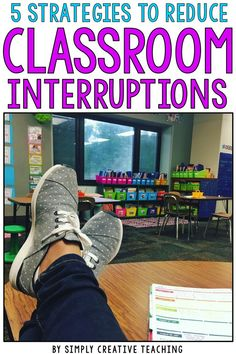 Have a chatty class that needs you all the time, even when you're in the middle of teaching small groups? You get interruption after interruption, leaving you with mere minutes to teach! These classroom management / behavior management strategies and ideas will help you reduce interruptions while you're trying to teach your students!