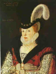 1573 by George Gower portrait of Elizabeth Cornwallis