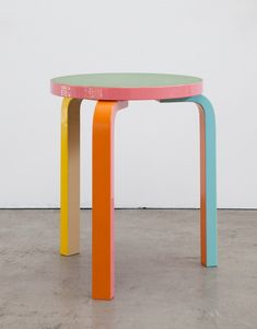 an Aalto Stool 60 / customized by Meiré