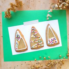 How to make these modern geometric Christmas cookies without cookie cutters or a rolling pin.
