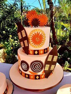 African traditional wedding cake