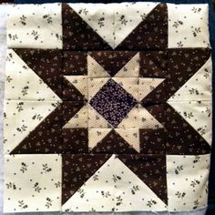 Love this star square from A Quilt is a Hug